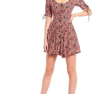 Free People lace up Mini Dress